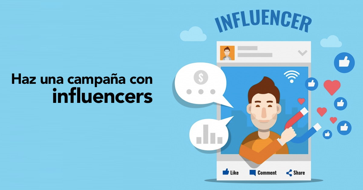 Social Media: Haz una campaña con Influencers