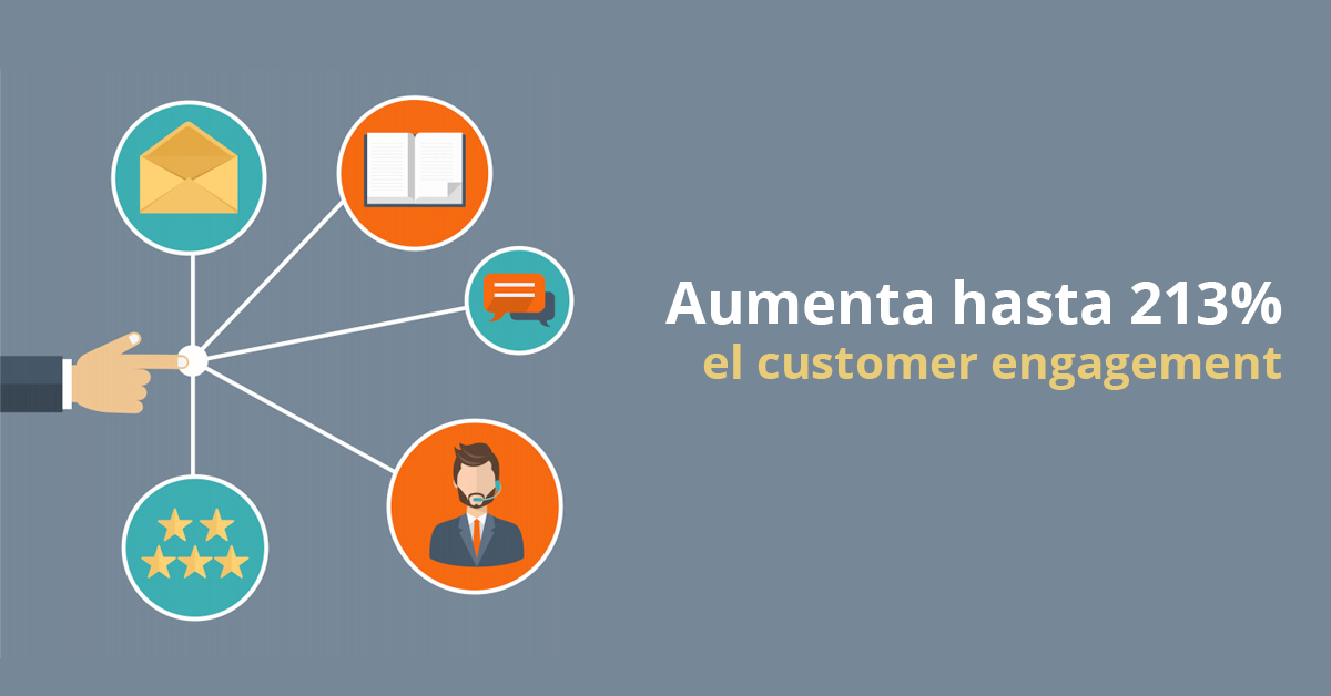 Aumenta el customer engagement hasta un 213%