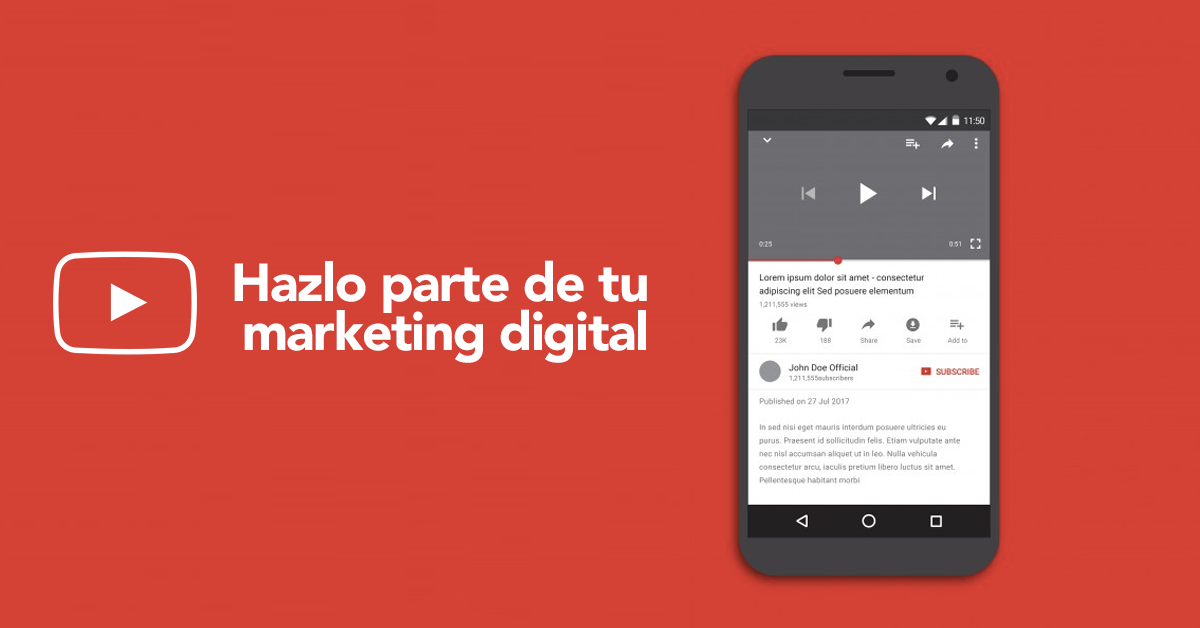 3 beneficios de incluir YouTube en tu plan Marketing Digital